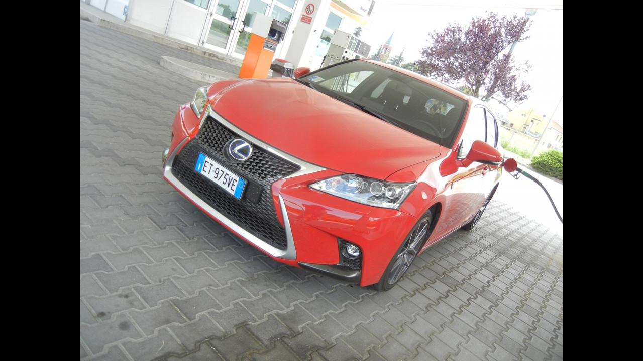 Lexus CT Hybrid, test di consumo reale Roma-Forlì
