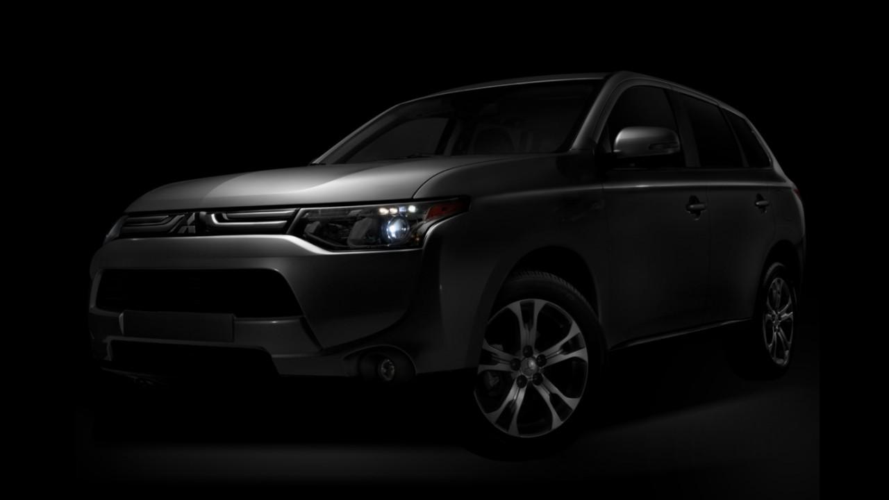 Mitsubishi divulga primeira imagem oficial do novo Outlander para os Estados Unidos