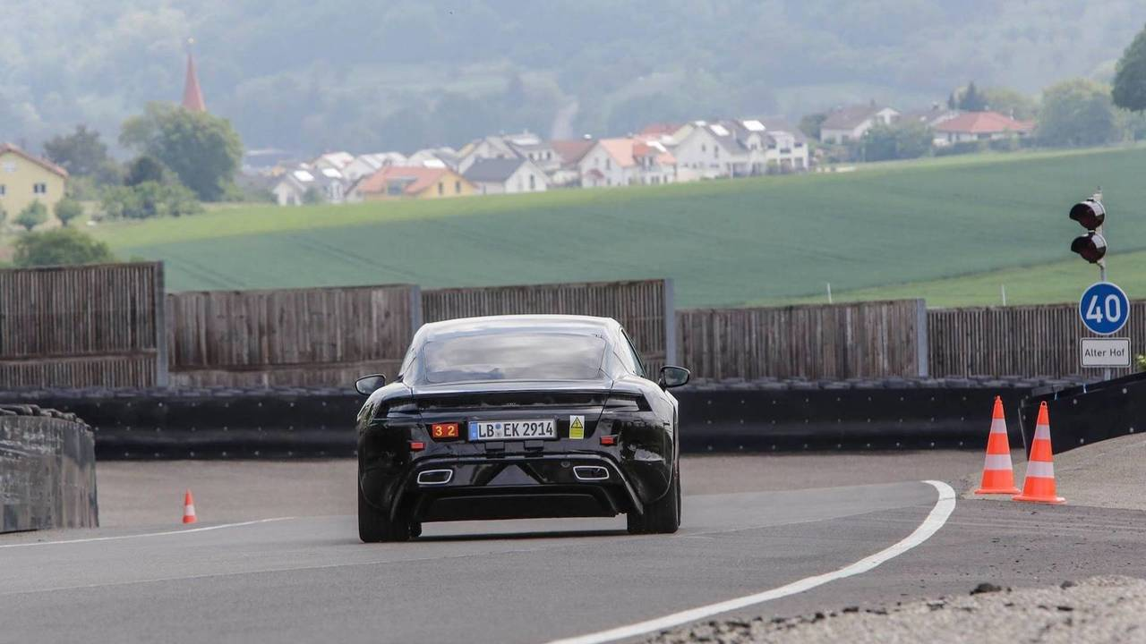 Mark Weber drives the Porsche Mission E for the first time