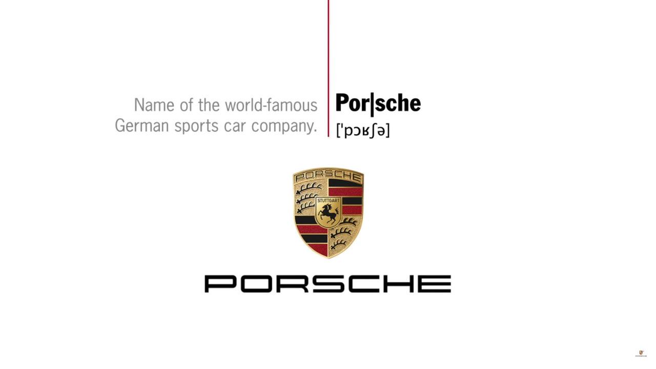 Porsche pronunciation
