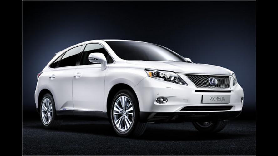 Lexus gibt den CO2-Ausstoß für den neuen RX 450h bekannt