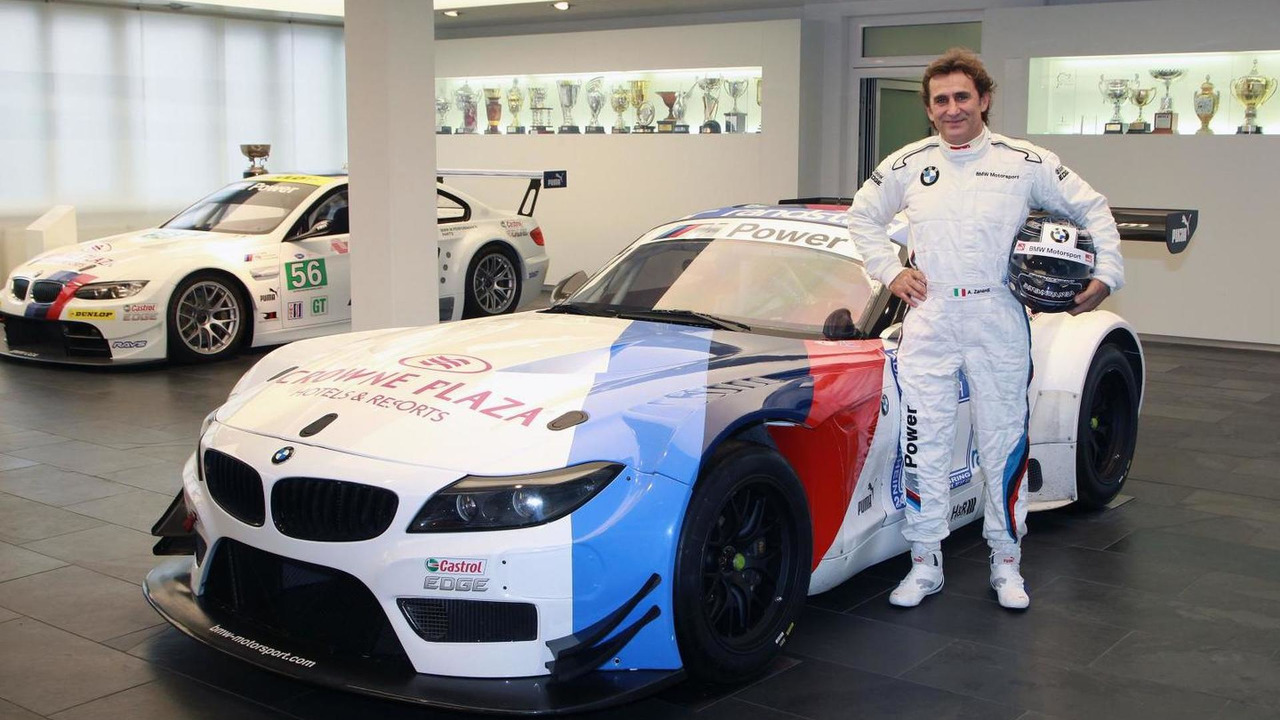 Alex Zanardi with his ROAL Motorsport BMW Z4 GT3