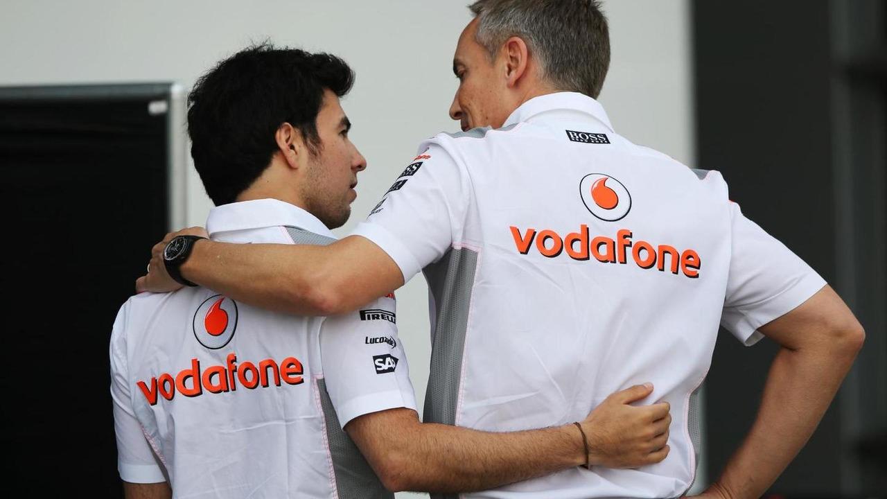 Sergio Perez with Martin Whitmarsh 13.04.2013 Chinese Grand Prix