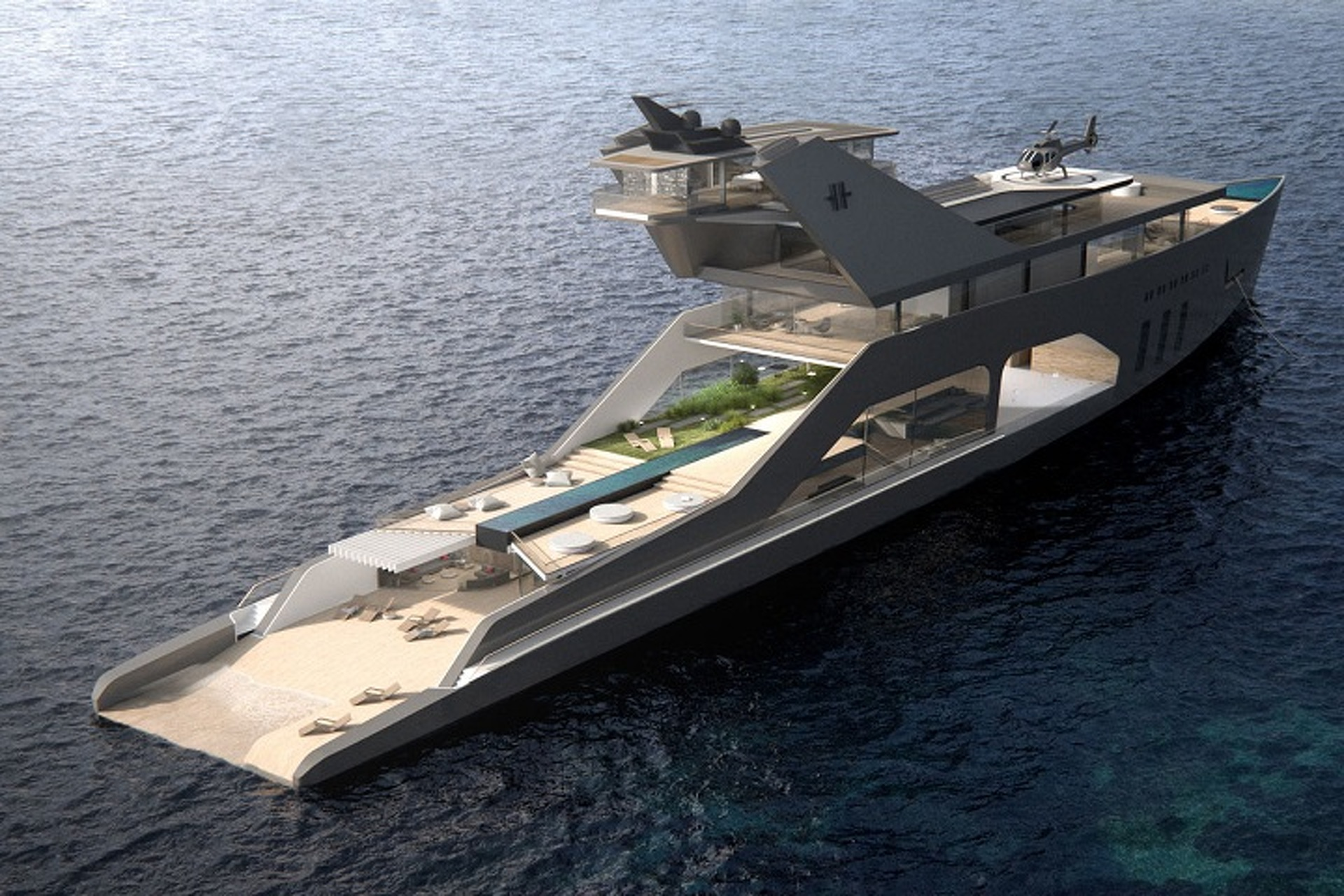 Hareide Design's Mega Yacht is the Stuff of Dreams