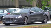2017 Maserati Quattroporte spy photos new fascias