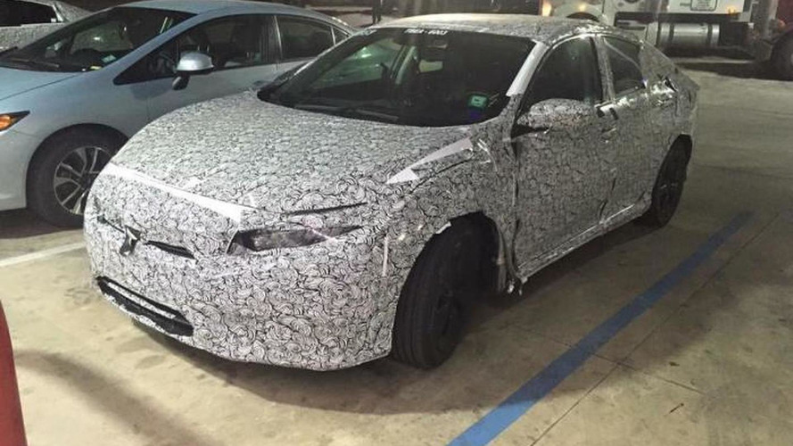 Next-gen Honda Civic spied hiding production body