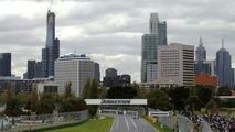 Melbourne makeshift F1 track