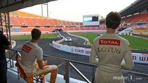 Ryan Hunter-Reay and Romain Grosjean