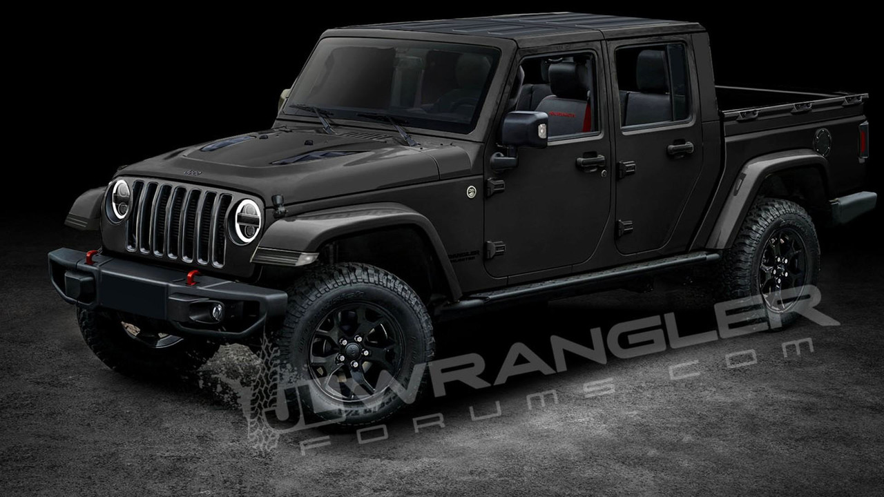 2019 jeep wrangler pickup predictably rendered. Black Bedroom Furniture Sets. Home Design Ideas