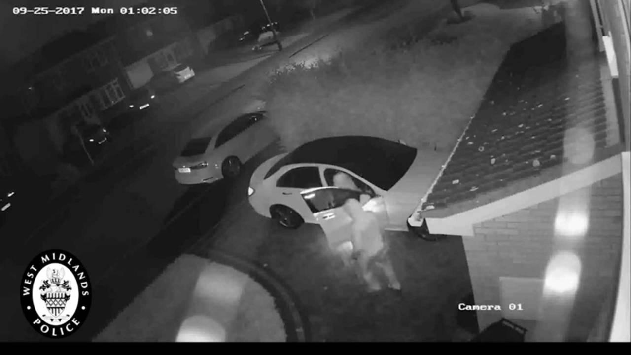 Thieves Steal Mercedes-Benz