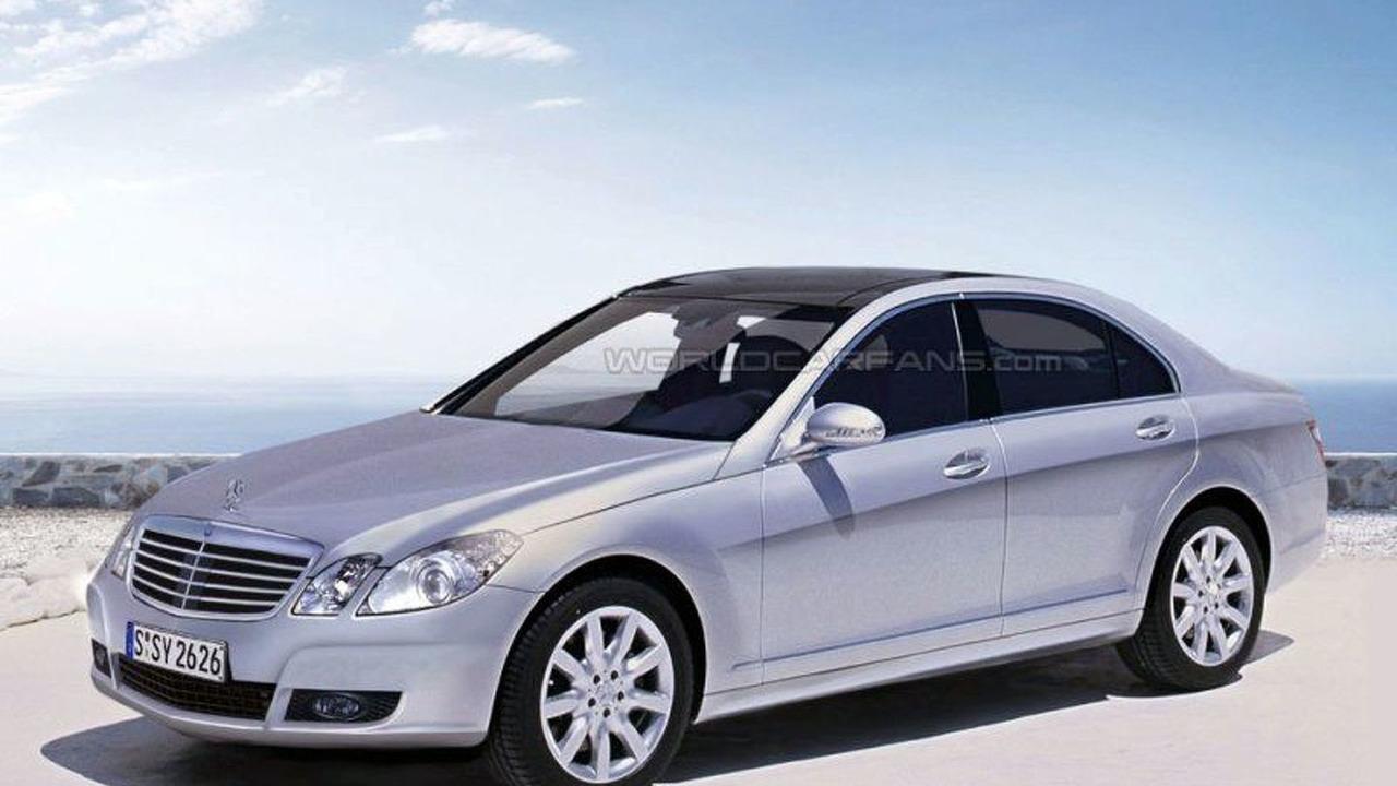 New Mercedes E-class spy