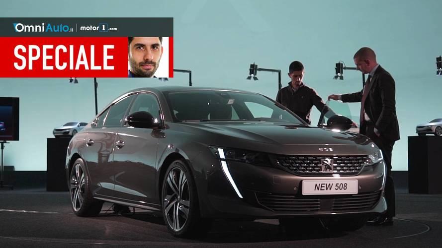 Nuova Peugeot 508, ecco com'è vista dal vivo