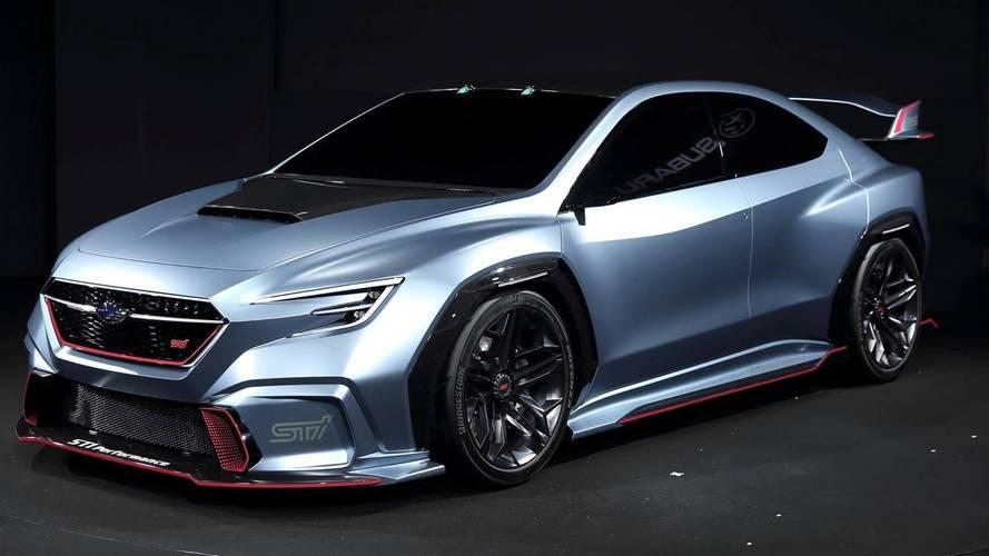 Subaru Viziv Performance STI konsepti dururken bile hızlı görünüyor