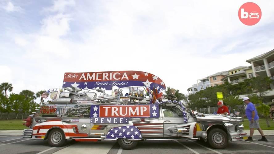 Des fans de Donald Trump présentent leur