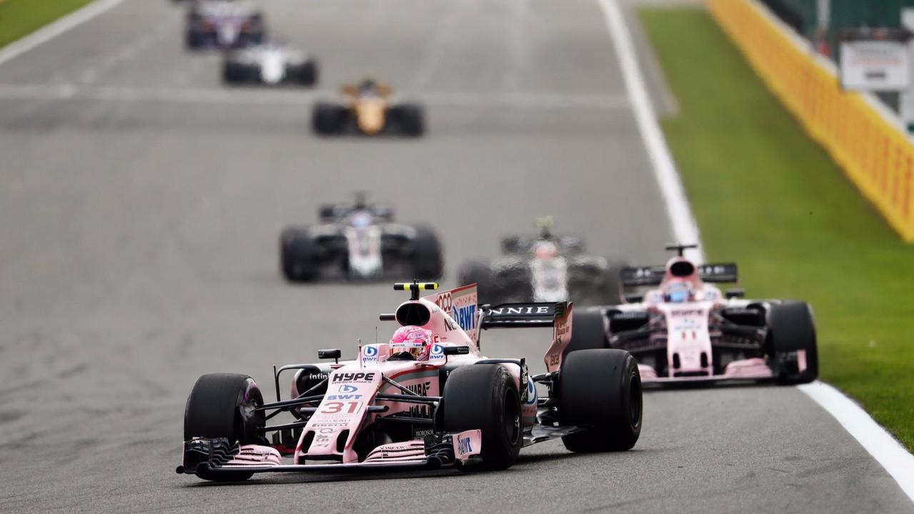Esteban Ocon y Sergio Pérez (Force India)
