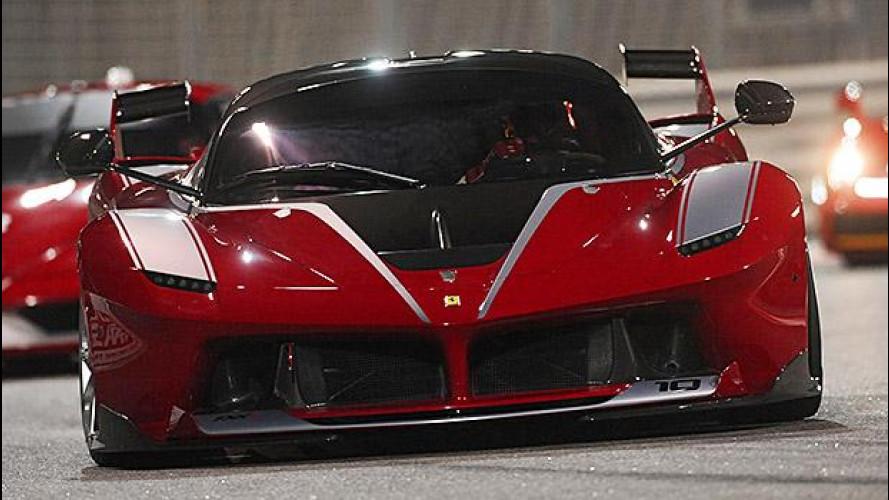 Ferrari FXX K, il mostro scende in pista
