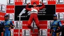 2006: 1. Michael Schumacher, 2. Fernando Alonso, 3. Giancarlo Fisichella