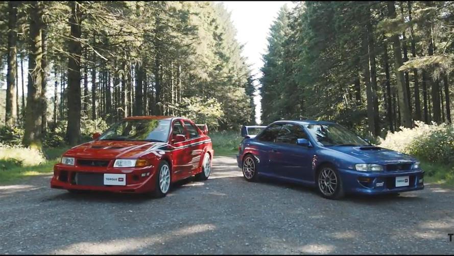Subaru Impreza 22B, Mitsubishi Lancer Evolution 6.5'a karşı