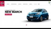 Só o novo: March Active não está disponível no novo site da Nissan