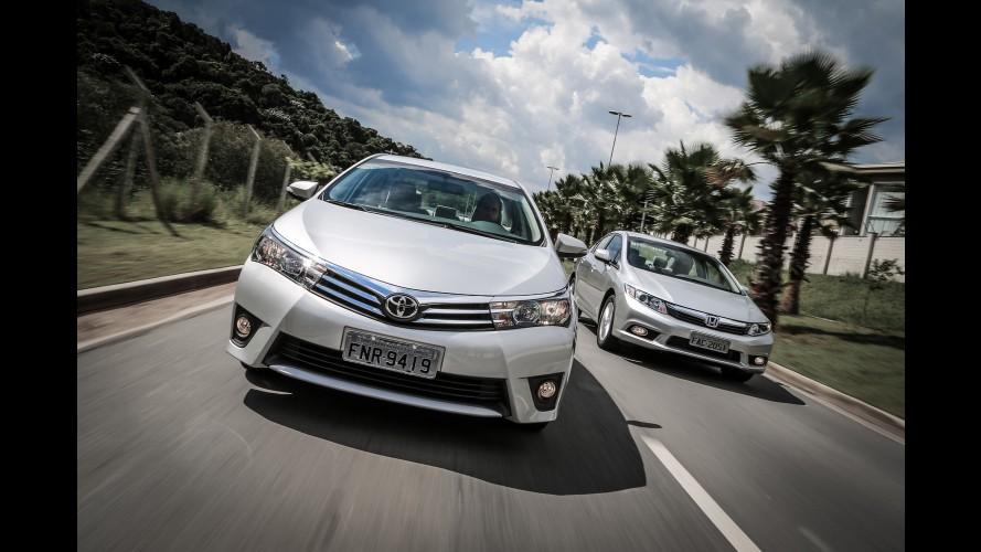 Sedãs médios: Corolla amplia vantagem em pódio 100% japonês