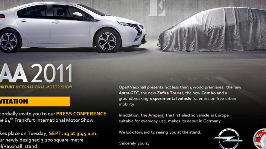 Opel teases new concept for Frankfurt