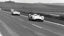 Juan Manuel Fangio ahead of Karl Kling
