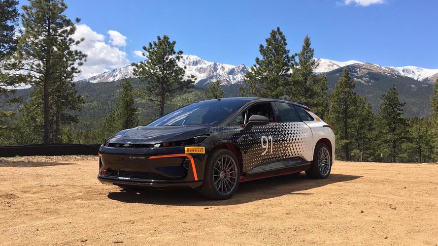 El Faraday Future eléctrico, listo para competir en Pikes Peak