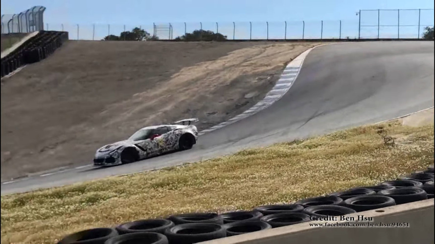 Chevrolet Corvette ZR1 Prototypes Filmed Lapping Laguna Seca