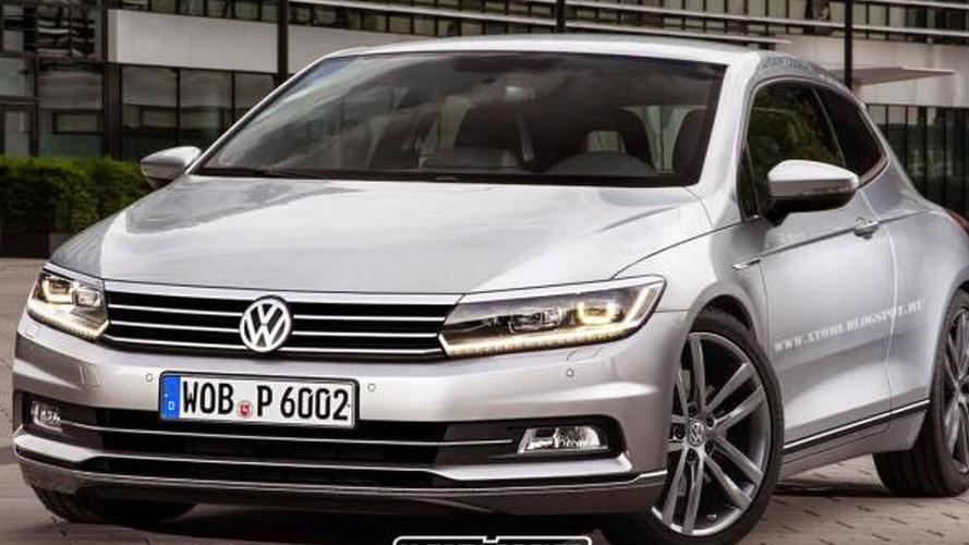 New Volkswagen Scirocco rendered with Passat influences