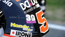 Luis Salom sticker on Johann Zarco, Ajo Motorsport, bike