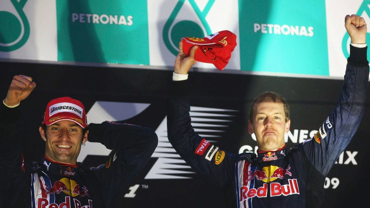 Sebastian Vettel  and Mark Webber at Chinese Grand Prix 2009