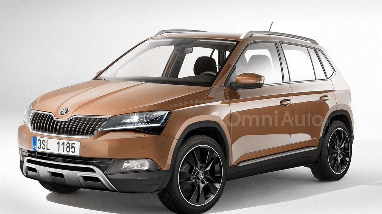 Skoda small crossover render