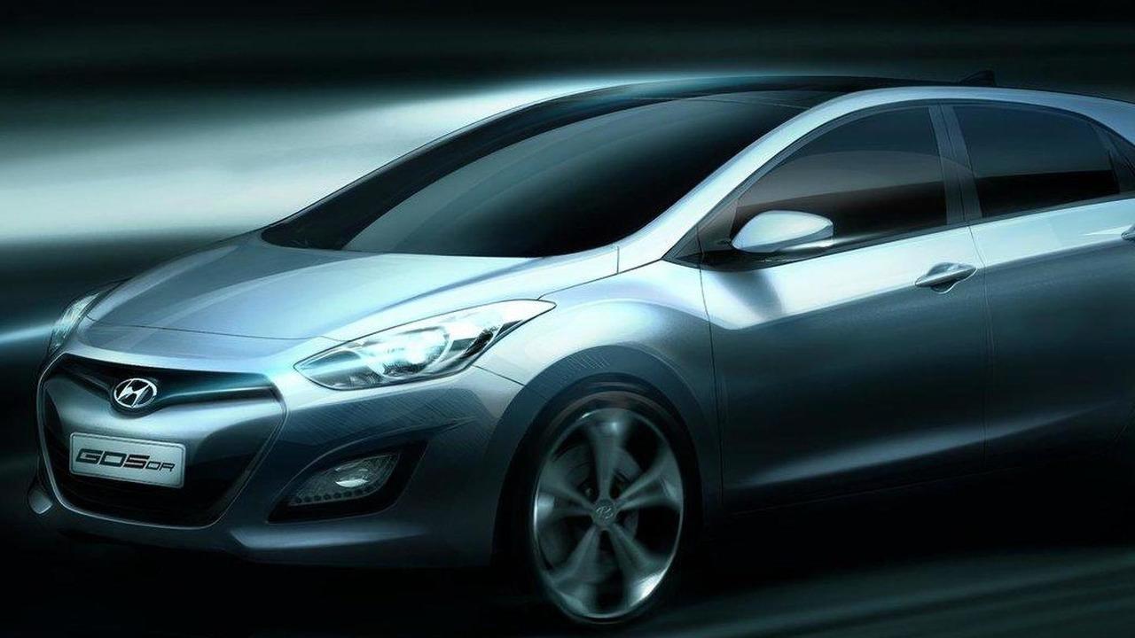 2012 Hyundai i30 official rendering 10.08.2011