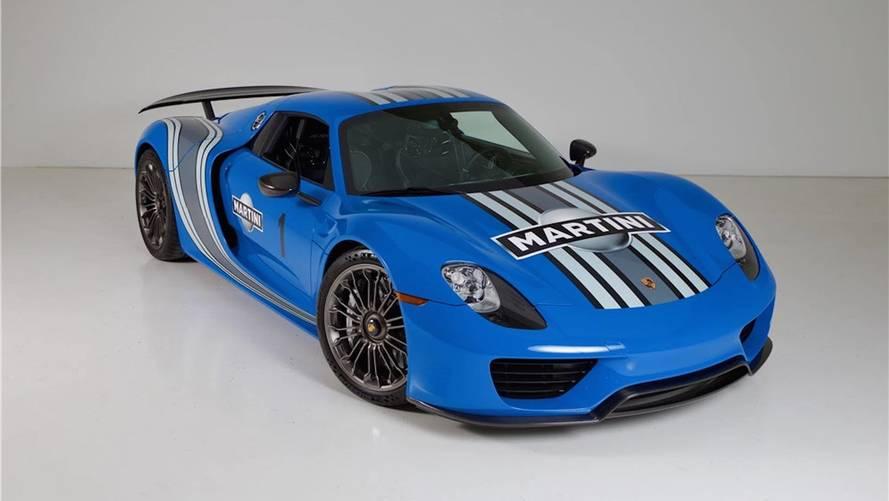 Porsche 918 Voodoo Blue Auction