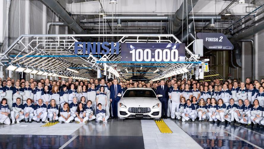 Maserati - Déjà 100'000 exemplaires sortis de l'usine de Grugliasco