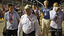 Bernie Ecclestone, on the grid