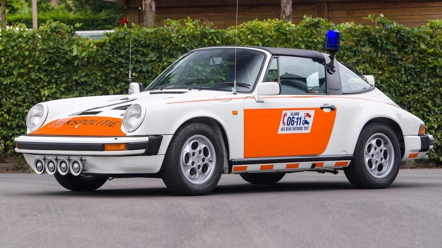 Une Porsche 911 Targa 1989 de la police néerlandaise en vente aux enchères
