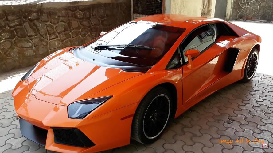 Gördüğünüz otomobil bir Lamborghini Aventador değil