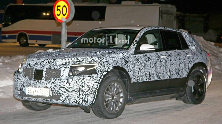 Mercedes Spied Putting Its EQ C EV Crossover To Work In the Snow