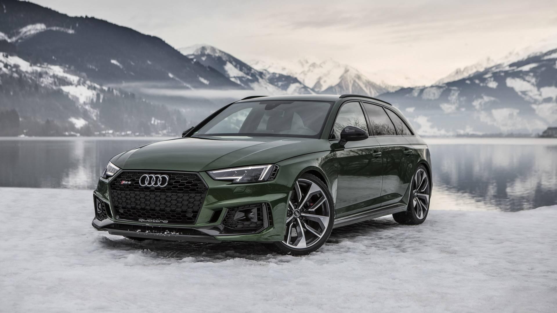Audi RS Avant Flaunts Sonoma Green Paint In A Winter Wonderland - Audi rs4