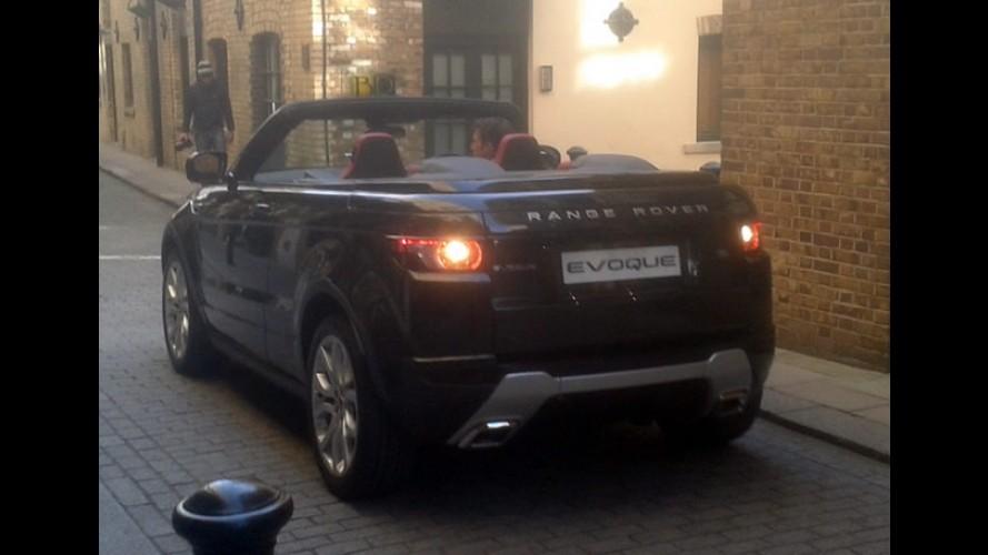 Flagra: Range Rover Evoque Conversível é fotogrado em Londres