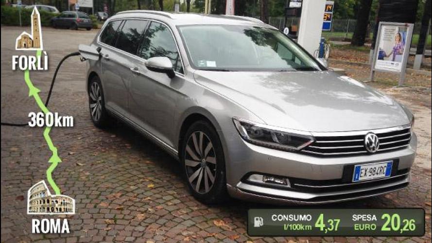 Volkswagen Passat Variant 2.0 TDI, la prova dei consumi reali