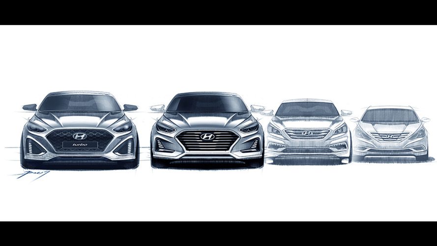 Hyundai Sonata facelift previewed in design sketches