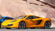 McLaren 12C windshield smashed