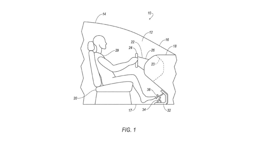 Ford Removable Steering Wheel Pedals Patent