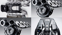 Mercedes AMG Twin-Turbo 5.5 Litre V8 Engine collage - 827 - 01.03.2010