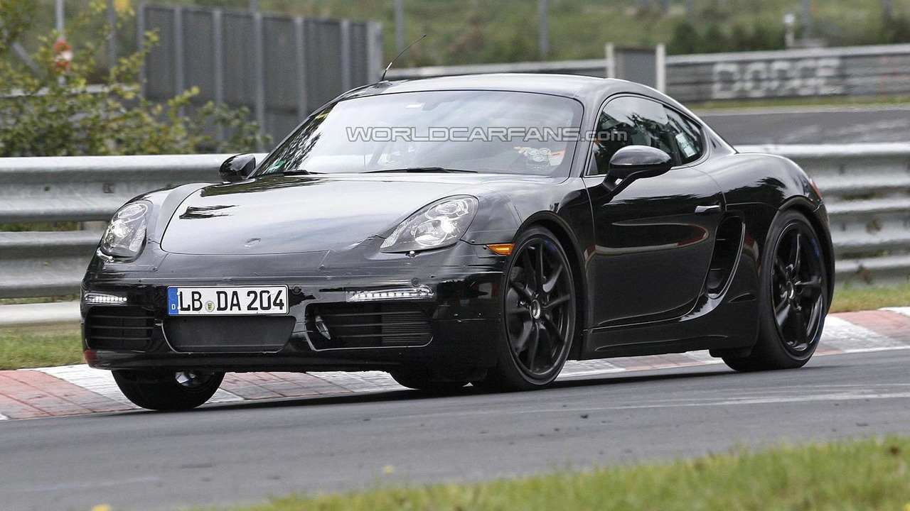 2016 Porsche Cayman facelift spy photo