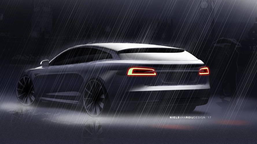 La Tesla Model S Shooting Brake approche