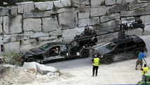 Crashed Aston Martin DBS in New James Bond Film