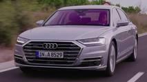 2018 Audi A8 screenshot from official video